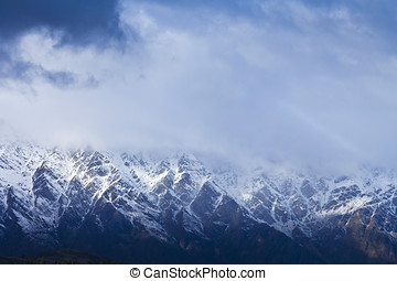 The Remarkables mountain range, New Zealand - The...