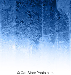 Cold frost background - Frosty winter background photo of...