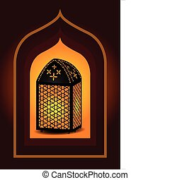 Beautiful islamic lantern for ramad