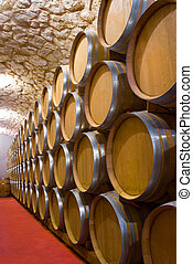 Wine cellar - Interior of a wine cellar with a production of...