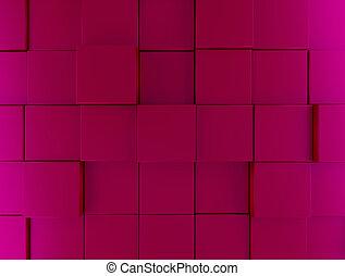 Pink metallic cubes background