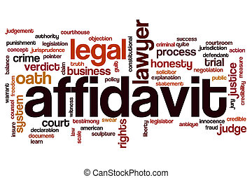 Affidavit word cloud concept