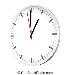 Clock with one red hand 3d rendered illustration