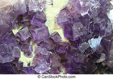 cubos, fluorita, violeta