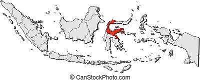Map - Indonesia, Central Sulawesi