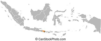 Map - Indonesia, Bali - Map of Indonesia with the provinces,...