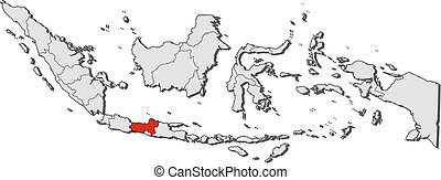 Map - Indonesia, Central Java