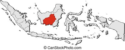 Map - Indonesia, Central Kalimantan