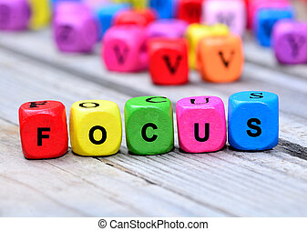 Focus word on table