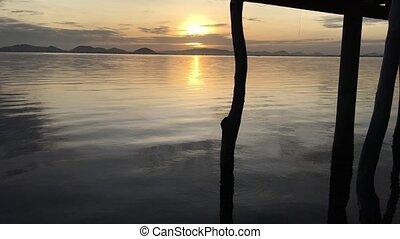 Sunshine - Morning time at lake see sunshine