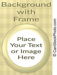 Frame Porthole on Yellow Background