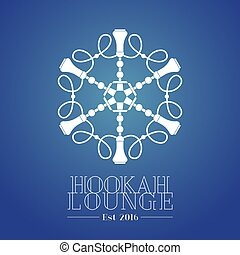 Hookah vector logo, icon, symbol, emblem, sign. Template...