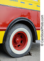 Fire fighter wheel - The wheel of the old-fashioned fire...