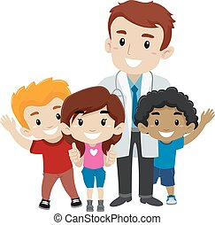 Doctor with Kids