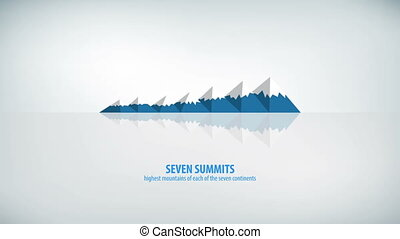 Seven Summits Globe Infographic Highest Mountains on...