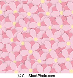 overlap cute pink seamless floral pattern flowers