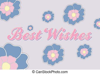 best wishes greeting card with flowers
