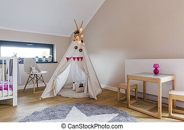 Indian tent in child's room - Picture of Indian tent in...