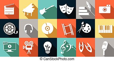icons arts - set of icons dedicated to arts: painting,...