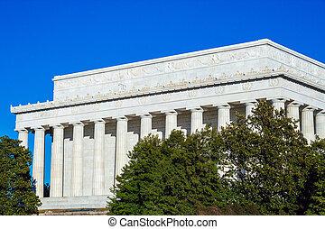 Lincoln Memorial at Summer, Washington DC, USA - Lincoln...
