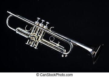 Trumpet Isolated On Black