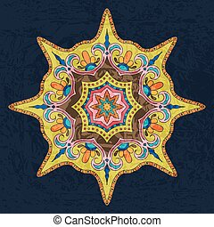 Bright Colored Mandala. Oriental Decoration Pattern....