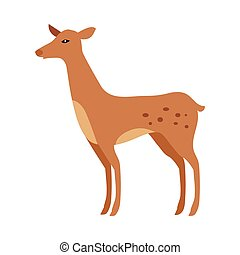 Fawn Isolated. Junior Verdant Young Spotted Deer - Fawn...