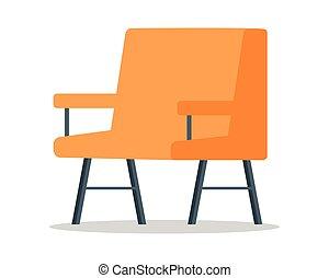 Armchair Vector Illustration in Flat Design