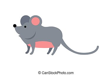 Funny Mouse Illustration - Funny mouse isolated on white...