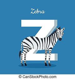 Animal Alphabet Concept in Flat Design