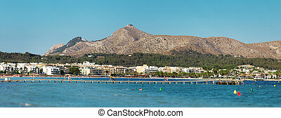 Panoramic view of port de Alcudia.