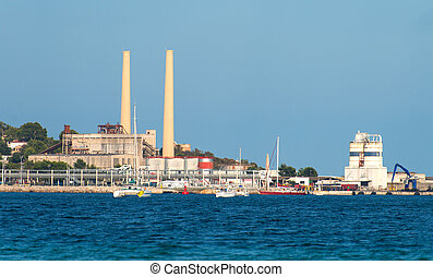 Old power station in Port de Alcudia.