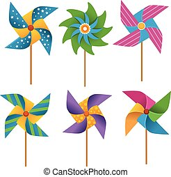 Pinwheels - Collection of coluorful pinwheels.