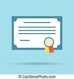 certificate vector diploma illustration icon
