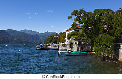 a view over the orta lake italy