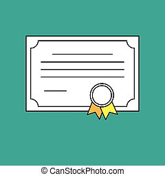 certificate vector diploma illustration icon