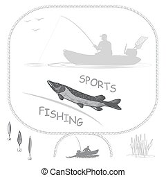 Sport fishing and a healthy lifestyle - fish pike fisherman...