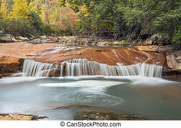 Waterfall on the North Branch of the Blackwater River - An...
