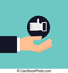 hand holding icon like hand design isolated vector...