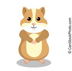 cute hamster mascot isolated icon vector illustration design
