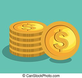money coins isolated icon vector illustration design