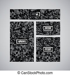 Set of corporate business identity. Stationery design with...