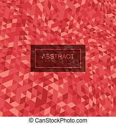Abstract polygonal distorted background with colorful...