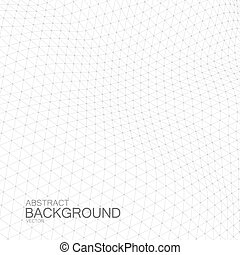 3D cyberspace grid. - 3D space grid. Vector illustration of...