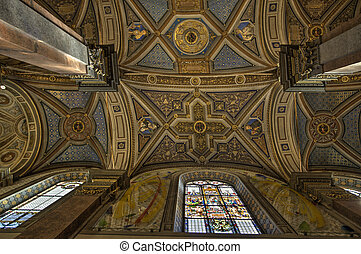 Santa Maria dell Anima church in Rome - Ceiling of the...