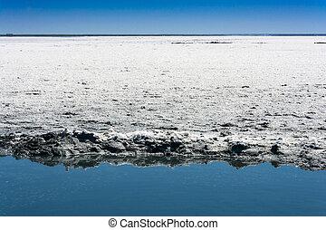 Exotic salty mud of the lake Elton. - Exotic mud salty lake...