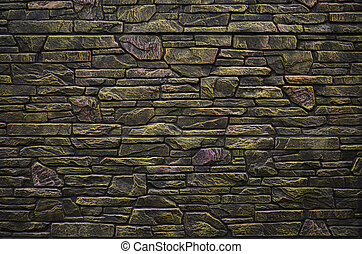 Brick fence texture - Fence texture of elongated colored...