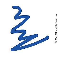 Blue Brush Stroke Vector Illustration
