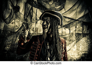 halloween pirate - Fantasy adventure novel. Terrible evil...