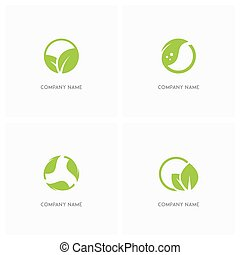 Green leaves and ecology logo - Green leaves and ecology...